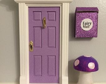 Fairy Door Glow in the dark Purple glitter