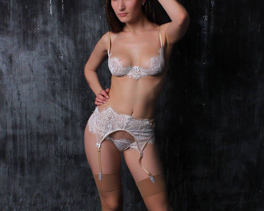 Sexy white wedding lingerie