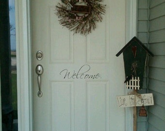 Welcome Door Vinyl