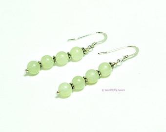 Green Earrings | Jade Earrings | Dainty Everday Earrings | Earring Gift Ideas | 12th Wedding Anniversary | New Jade Earrings |A0138