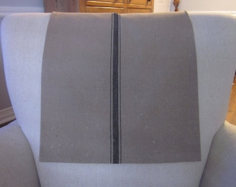 """Headrest Chair Protector or Cover, 30"""" x 14"""", Grain Sack-Like, Recliner/Chair/Sofa Cap, Cover, Antimacassar, Fabric or Leather"""