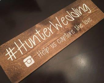 Instagram Wedding Sign - hashtag sign - hashtag wedding sign - instagram hashtag wedding decor
