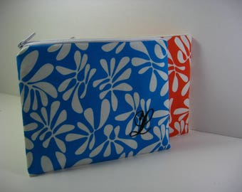 Personalized Cosmetic Bag, Bridesmaid Gift,  Shower Gift, Zipper Pouch, Coin Purse, Clutch, Personalized Pouch