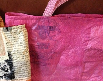 Upcycled Tote Bag from shopping bags