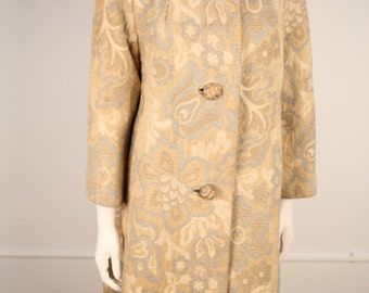 1960s Original Golet Heavy Wool Jacquard Coat