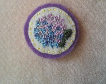 Hydrangea (Patch, Pin, Brooch, or Magnet)