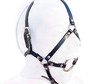 Sinner ~ Leather head harness