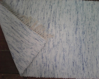2x4 Rag Rug / Blue and White