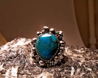 Sterling Silver Ring with Turquoise RF135