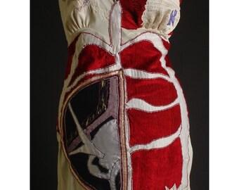 Sacrum Art Dress Recycled Vintage Slip