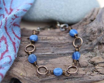 be true . five deep breaths kyanite bracelet