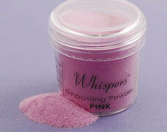 Whispers Pink Embossing Powder, 1 oz, Non-toxic, Scrapbooking