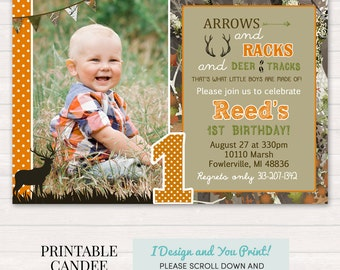 Deer Hunting Birthday Invitation Hunting Birthday Camo