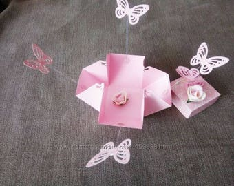 gift box with butterflies. gift for a woman.