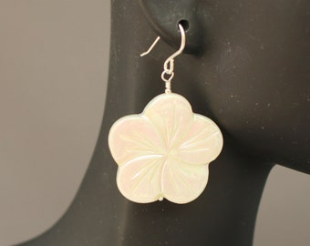 Mother of Pearl Floral Earrings