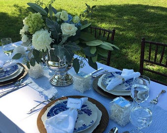 SEERSUCKER TABLE LINENS- Colors- Table Runners, Napkins, Navy blue, light blue, red,  green, pink, yellow, Bridal, wedding, southern , bride