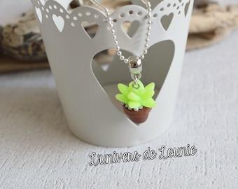 Succulent Cactus succulent necklace