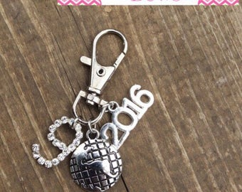 CUSTOM Zipper Pull / Charms for Backpacks -- (2) TWO CHARMS