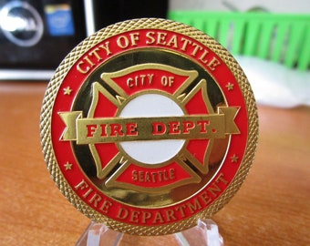 City of Seattle Fire Department Firefighters Saint Florian Challenge Coin #4193