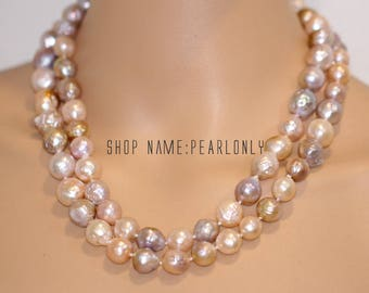 30inch,40inch,60inch, extra long pearl necklace, 10-13mm multi color freshwater baroque pearl opera endless necklace,similar kasumi pearl