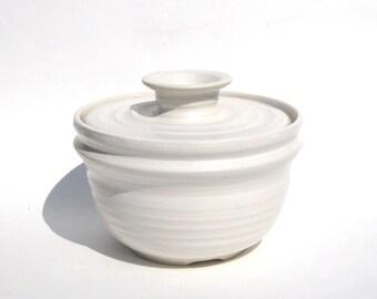 Coffee Filter Storage Jar - NSW White Glaze
