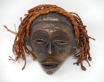 Old African mask, free shipping