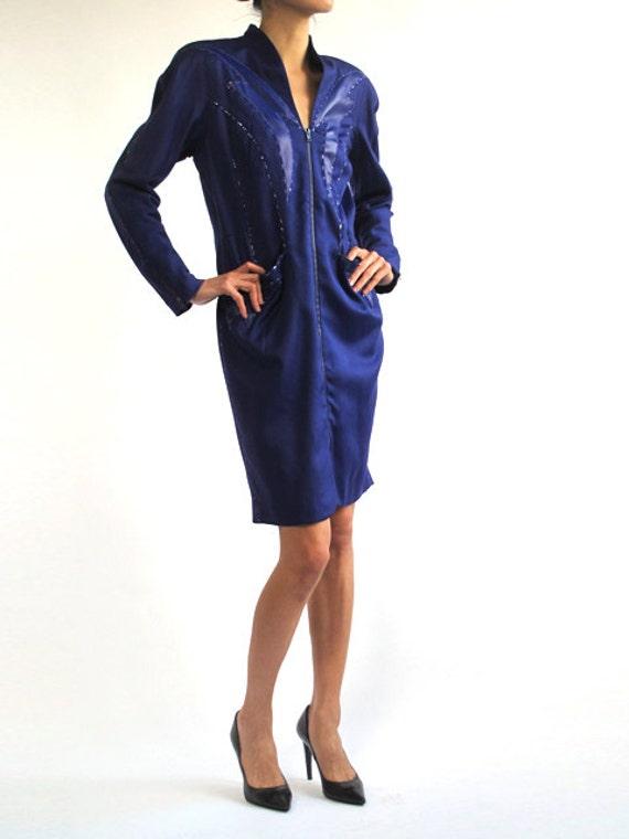 Thierry Mugler 80's Avant-Garde Zip Dress