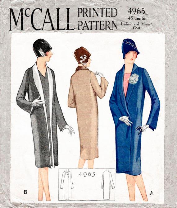 1920er Jahre 20er Jahre Flapper Mantel Vintage Nähen Muster