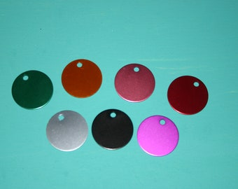 Anodized Round Dog Tags- 1.25 inch