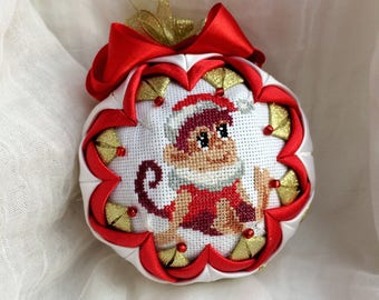 Embroidered Fabric Xmas ball Christmas ornaments tree decorations Winter Holiday decor baubles tree toy New year gifts Christmas tree ball