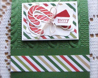 Merry | Candycane | Matchbook Pad | Notepad | Stocking Stuffer | Shipping Included
