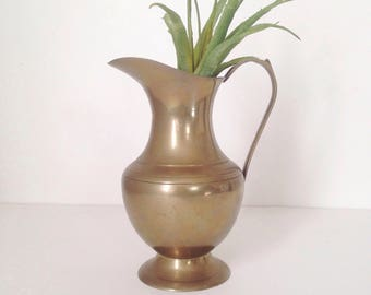 Small Brass Pitcher Midcentury Modern Home Decor