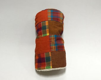 Patchy Fall Colors Tartan Golf Club Cover