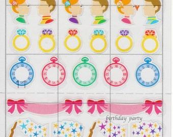 Japan Mind Wave kawaii CINDERELLA schedule sticker sheet/77099
