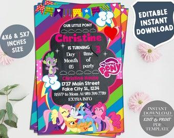 Rarity invitation etsy instant download my little pony invitation my little pony birthday party invite my little pony birthdaymy little pony birthday invitation stopboris Choice Image