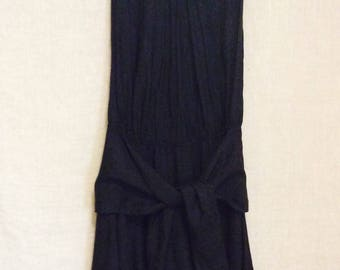 Vintage Carole Little lagenlook dress 8 to 10 black