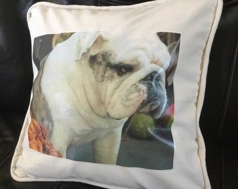 English Bull Dog Pillows Personalized Pillow