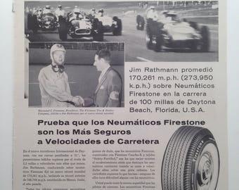 "Tires ""Firestone"" Vintage Ad (1959)"
