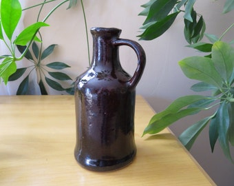 Vintage Pitcher Ceramic Salt Glaze, Collectible Home Decor, Little Brown Jug, Ink Pourer