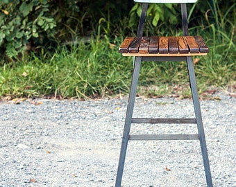 FREE SHIPPING - Brew Haus Industrial Style Bar Stools - Brown Ale Edition