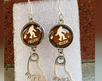 Bigfoot believe earrings