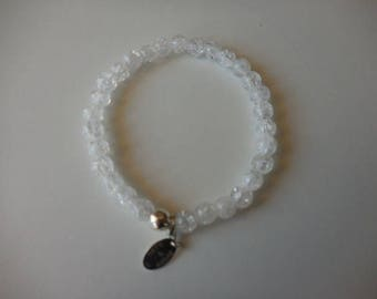 rock crystal Frost and Silver 925 bracelet