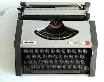 MANUAL TYPEWRITER OLIVETTI 1980 tropical model