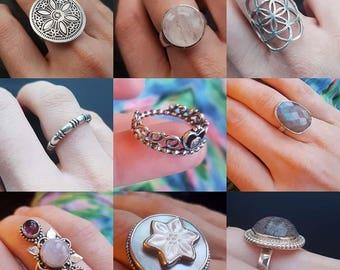 Sterling Silver Rings (Choose One)