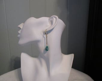 Amazonite Drop Earrings, Amazonite Dangle Earrings, Amazonite Earrings, Amazonite Long Earrings