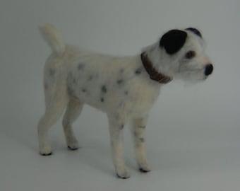 Custom made needle felted dog