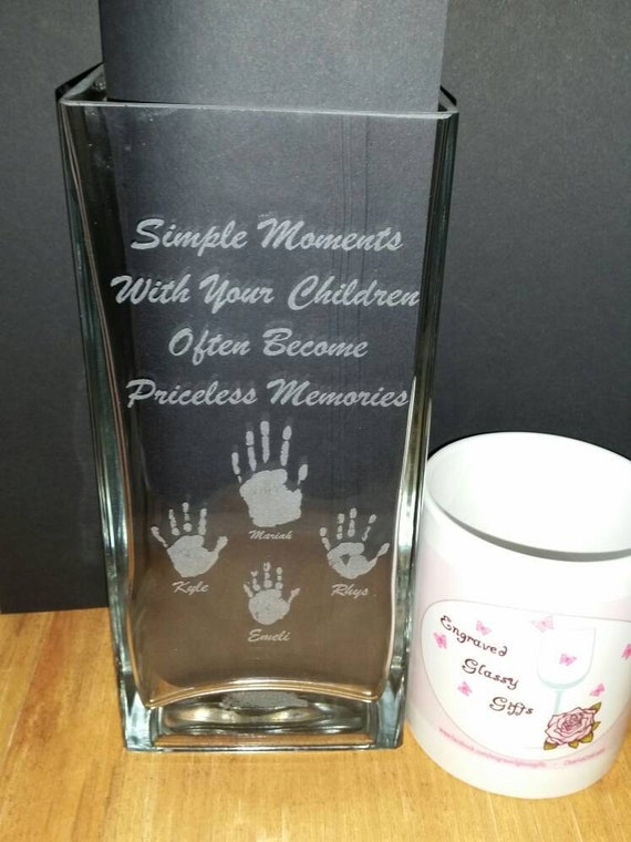 First Baby Gift Hand Print Vase First Hand Print