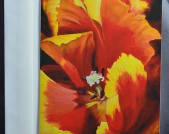 Parrot Tulips Art Card