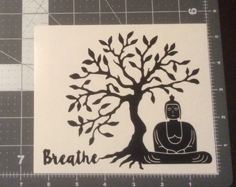 Buddha Breathe Vinyl Adhesive Decal