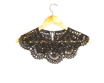 Dentelle noire au crochet Robe col collier Bohème fait main col Claudine détachable Festival d'été mariage accessoires de mode
